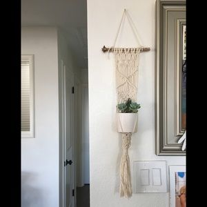 Other - Handmaid Macrame plant hanger with Cotton Rope